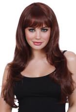 Dreamgirl Natural Brown Fringe Wig