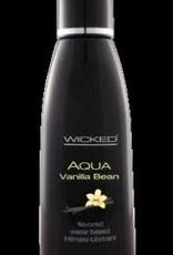 Wicked Sensual Care Aqua Vanilla Bean Flavored Water-Based Intimate Lubricant 2 Oz.