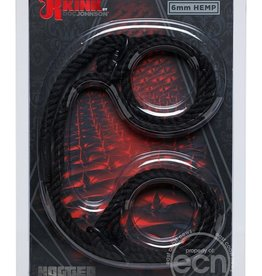 Doc Johnson's Kink Kink Hogtied Hemp Cuffs Black