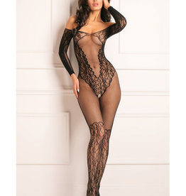 Rene Rofe Rene Rofe Make You Melt Bodystocking Black O/S