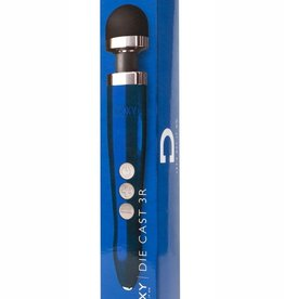 Doxy Doxy Die Cast 3 USB Rechargeable Vibrating Wand Massager Blue Flame