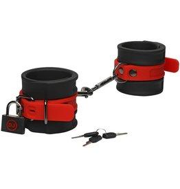 Doc Johnson's Kink Kink Silicone Wrist Cuffs Bondage Black/Red