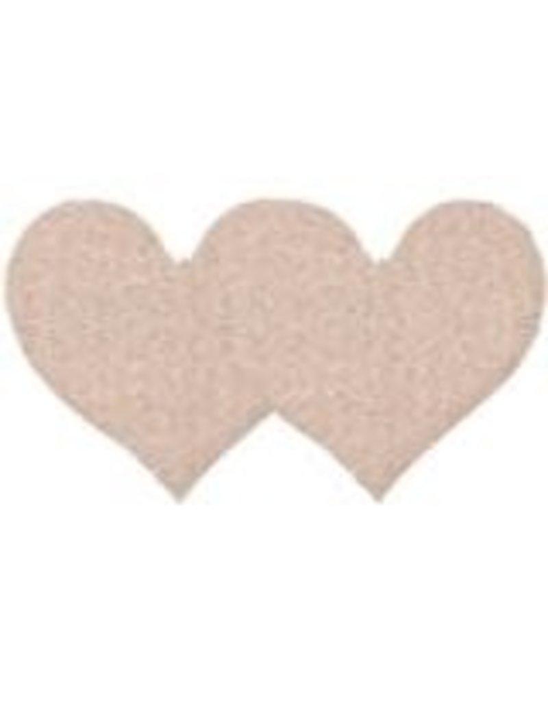 Eye Candy NUDE SATIN HEART - 2PK
