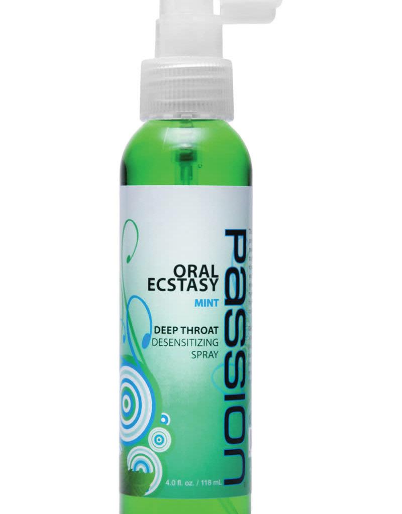 XR Brands Passion Oral Ecstasy Deep Throat Desensitizing Spray Mint 4oz