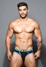 Andrew Christian Fly Tagless Brief w/ Almost Naked - Black