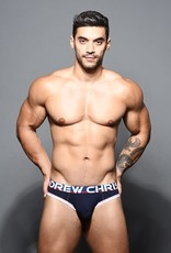 Andrew Christian Almost Naked Cotton Locker Room Jock - Navy