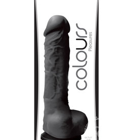 "NSN Colours Pleasures - 5"" Dildo - Black"