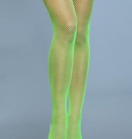 Be Wicked Nylon Fishnet Thigh Highs - O/S