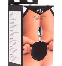 XR Brands Tailz Onyx Bunny Tail Anal Plug