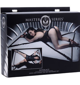 XR Brands Interlace Over and Under the Bed Restraint Set