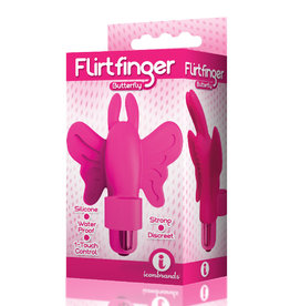 Icon Brands Flirt Finger Butterfly Finger Vibrator - Pink