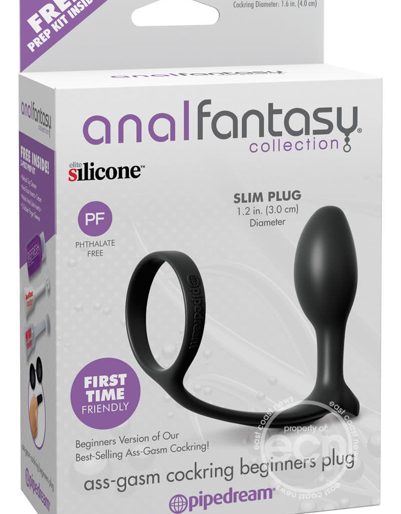 Pipedream Anal Fantasy Ass-Gasm Cockring Beginners Silicone Plug Slim 3.4 Inch