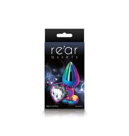 nsnovelties Rear Assets - Multicolor Heart - Medium - Clear