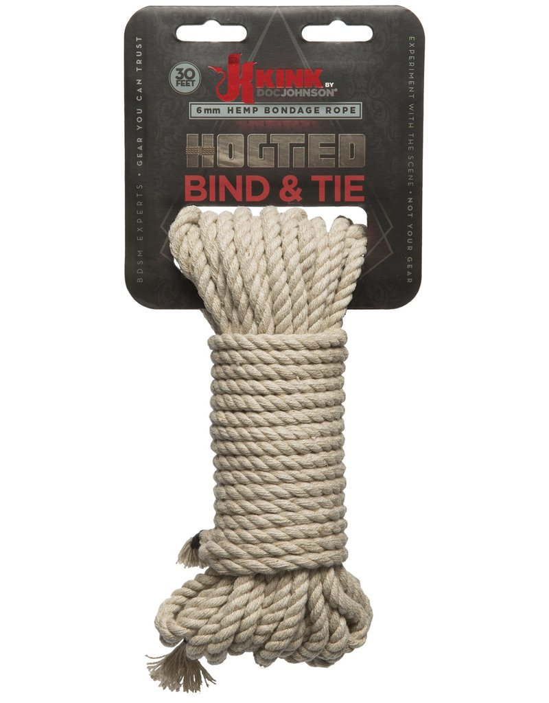 KINK by Doc Johnson Bond & Tie Hemp Bondage Rope - 30 Ft.