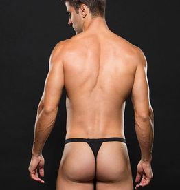 Envy Logo Elastic Mesh Sport Thong - Black