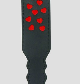 Everest Trading BLACK COLOR PADDLE WITH 9 RED HEARTS