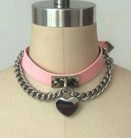 Everest Trading SLAVE COLLAR WITH HEART LOCK - PINK