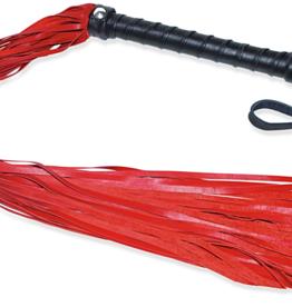 Everest Trading SOFT LAMB SKIN EXOTIC FLOGGER - RED/BLK