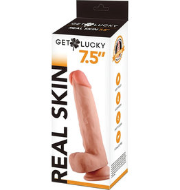 "Shibari Voodoo Get Lucky 7.5"" Real Skin Series - Flesh"