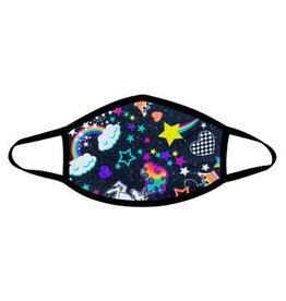 Neva Nude Girl Crush Neon Uv Face Mask With Black Trim