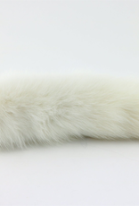"""Touch of Fur 14""""-17"""" All White Fox Tail"""