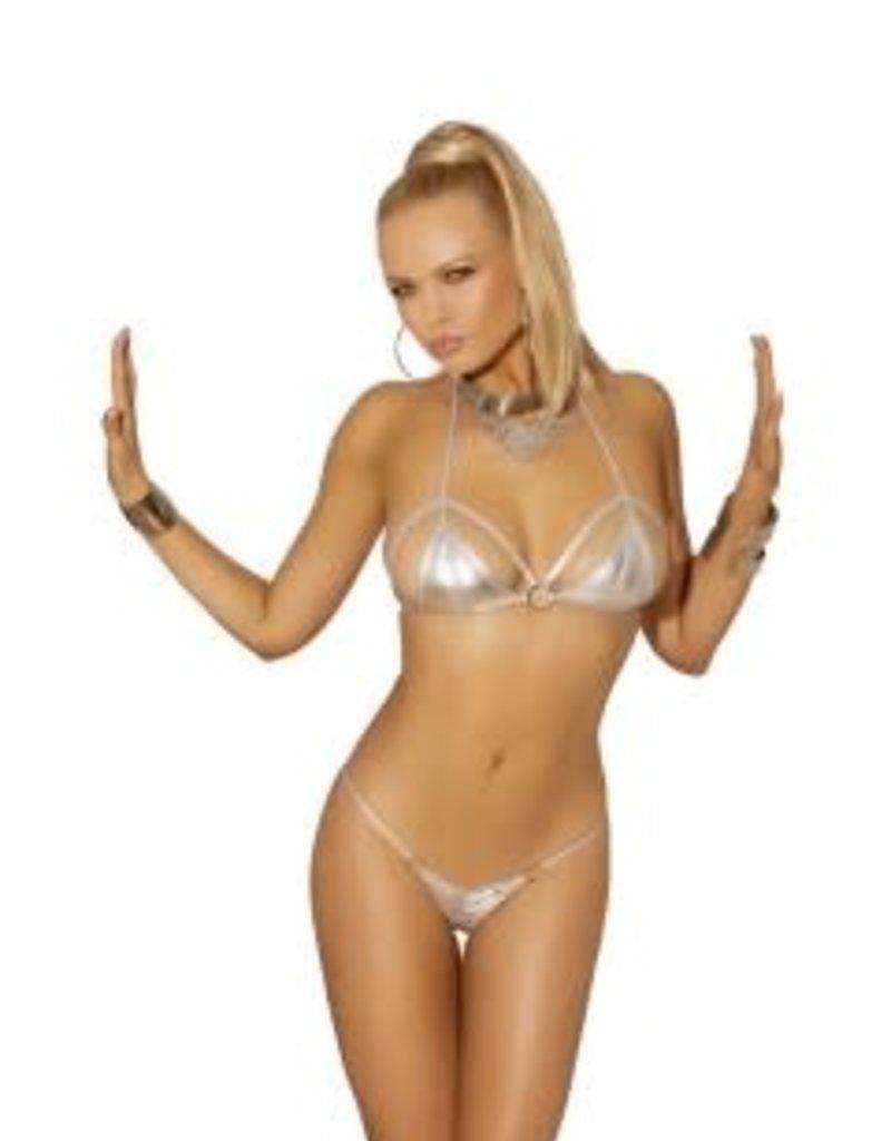 Elegant Moments 2-piece Swimwear Set - Silver  - One Size