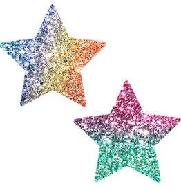 Neva Nude Super Sparkle Roc Kandi Chunky Rainbow Glitter Starry Nights Nipztix Pasties