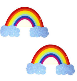 Neva Nude Rainbow Glitter Cloud Pasties