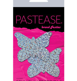 Pastease Pastease Glitter Butterfly - Silver O/S