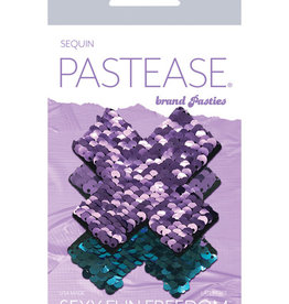 Pastease Pastease Color Changing Flip Sequins Cross - Purple/Turquoise O/S