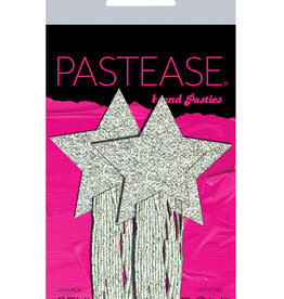 Pastease Pastease Glitter Tassle Stars - Silver O/S