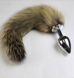 Kookie INTL Fox Tail With Steel Butt Plug - Black