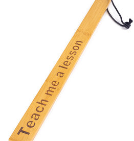 Spartacus Spartacus Bamboo Paddle - Teach Me a Lesson