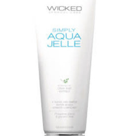 Wicked Sensual Care Simply Aqua Jelle Fragrance Free Lube 4oz 120ml