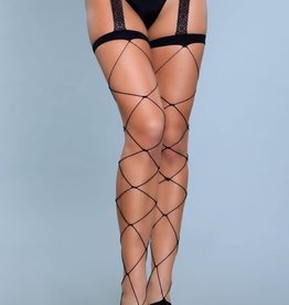 Be Wicked Night Shift Thigh Highs - OS