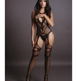 Shots Le Desir Shots Le Desir Suspender Bodystocking Black O/S