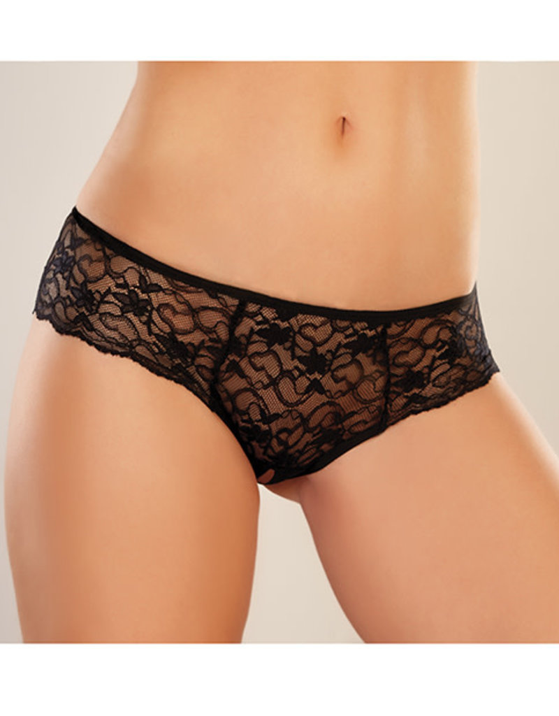 Allure Lingerie Adore Sweetheart Panty Black O/S