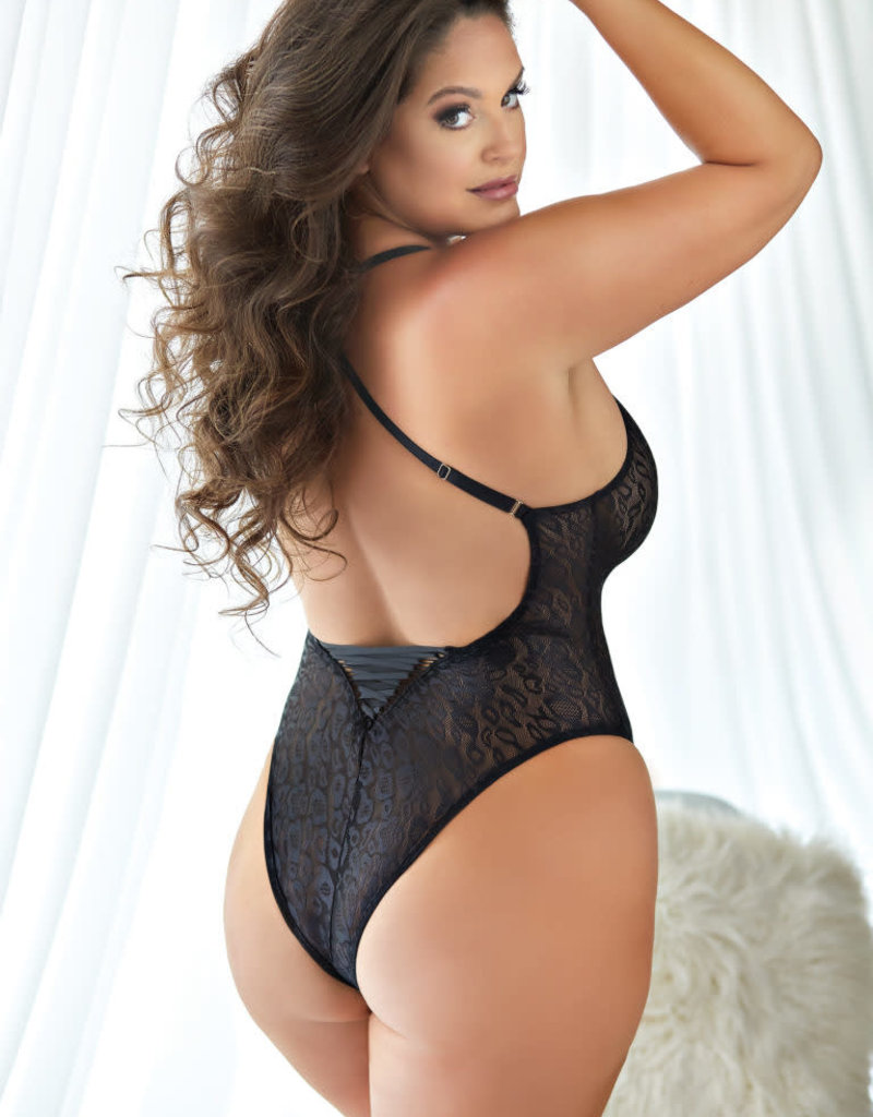 Allure Lingerie Allure Leopard Lace-up Teddy