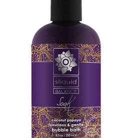 Sliquid Sliquid Balance Soak Coconut Papaya Luxurious & Gentle Bubble Bath 8.5oz.