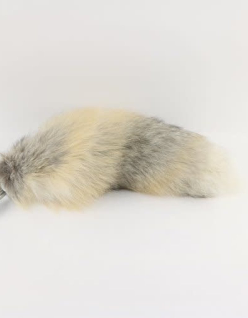 """Touch of Fur 14-17"""" Golden Island Fox Tail - Detachable Stainless Steel - Small"""