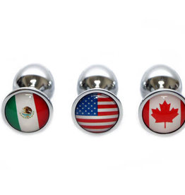 Touch of Fur Small Stainless Steel Flag Plug