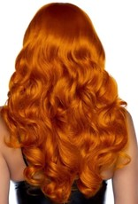 "Leg Avenue 24"" Misfit Long Wavy Bang Wig - Ginger"