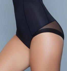 Be Wicked Peachy Soft Shapewear Brief Black - L/XL
