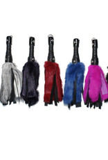 """Touch of Fur 12"""" Rabbit Fur and Leather Flogger"""
