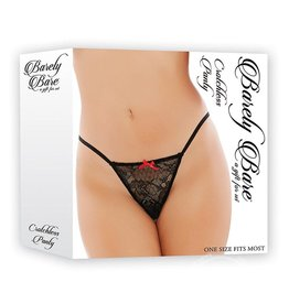 Barely Bare Barely Bare Crotchless Panty Black One Size