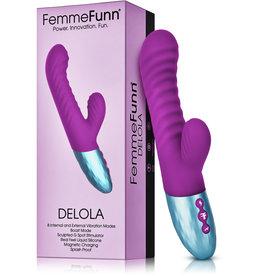 Femme Funn Delola Double Layered Liquid Silicone Rabbit - Purple