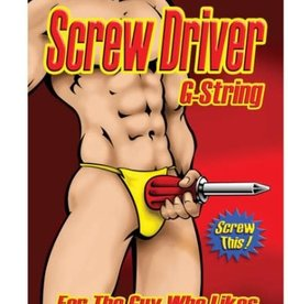 Male Power Screw Driver G-String - OS