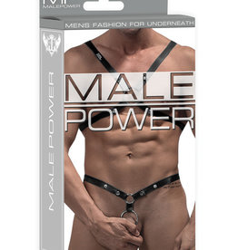 Male Power Rip off Harness Set - Black