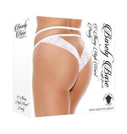 Barely Bare Barely Bare V-Thong High Waist Panty - O/S - White