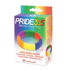 Icon Brands Pride 365 Silicone Rainbow Cock Ring
